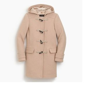 J Crew 2007 Italian stadium-cloth wool toggle coat